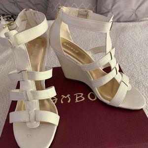 Bamboo T-Strap Wedge Heel Sandal